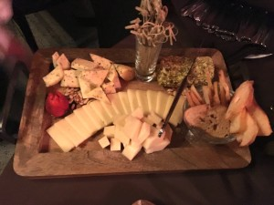 Cheese and breads platter